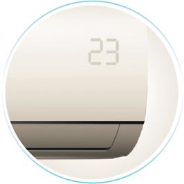 Mide Blanc inverter konditsioneer temperatuurinäidik